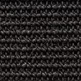Teppichboden Auslegware | Sisal Naturfaser Schlinge | 400 cm Breite | schwarz | Meterware, verschiedene Größen | Größe: 1 x 4m