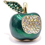 PicZhiwenture Spilla Spille con Strass Apple per Donna Smalto di Colore Verde Perni di Frutta Gioielli di Moda Corsetto Inver