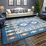 LYX1,Teppich Fußmatten Verdickte rechteckige mediterrane Teppich Wohnzimmer Schlafzimmer Nachttisch Couchtisch Decke (größe : 160 * 230cm)