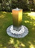 Edelstahl Säulenbrunnen