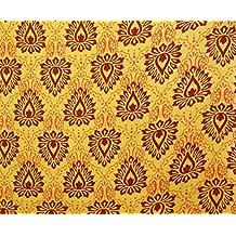 """42 """"de ancho, material decorativo algodón amarillo Tela elaboración coser Por El Metro"""