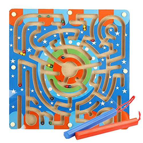 GZQ Funny Toy Bead Roller Maze Magnetic Game for Toddler Kids Children Boys Girls