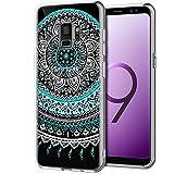 CoolGadget Samsung Galaxy S9 Hülle, Ultra Thin Muster Tasche Cover Schlank Weich Flexibel Anti-Kratzer Schutzhülle Abdeckung Case, Silikon Cover für Galaxy S9 Mandala Case