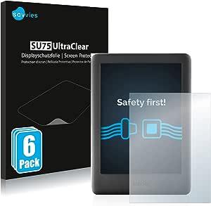 savvies 6-Pezzi Pellicola Protettiva Compatibile con Amazon Kindle 2019 (10a Generazione) Protezione Schermo Trasparente