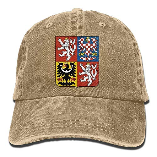 JIEKEIO Funny Baseball Caps Hats Czech Republic Coat of Arms Unisex Adult Adjustable Cowboy Dad Hats - Armee Camo Fitted Hut