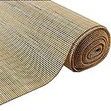 ZEMIN Bambus Rollo Bambusrollo Schatten Innen/Außen Installieren Anpassbar Qualität Handhebend, 3 Farben, 23 Größen (Farbe : Log, größe : 50x100CM)