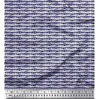 Soimoi Azul gasa de viscosa Tela Árbol tela de camisa estampados de tela por metro 42