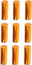 MagiDeal 9 Stück Aluminium Dart Flight Protektors - Rosarot/Schwarz/Blau/Gold