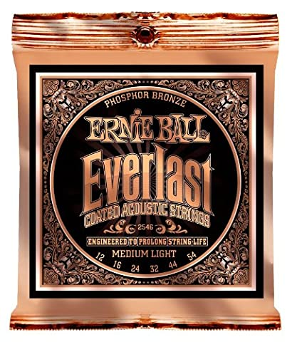 Ernie Ball 2546 Everlast Phosphor Bronze Medium-Light 12-54 Saitensatz, ummantelt