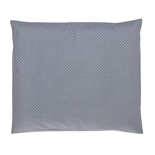 ULLENBOOM ® Baby Kopfkissenbezug 35x40 Grau (mit Hotelverschluß, passend zu Baby-Bettwäsche 80x80 cm, Motiv: Punkte, schlichtes Design)