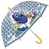 Ombrello Alla ricerca di Dory Disney - Ombrello bambino Finding Dory trasparente a cupola, resistente, antivento e lungo - Sicuro con puntine arrotondate e bloccate - Apertura manuale - Perletti