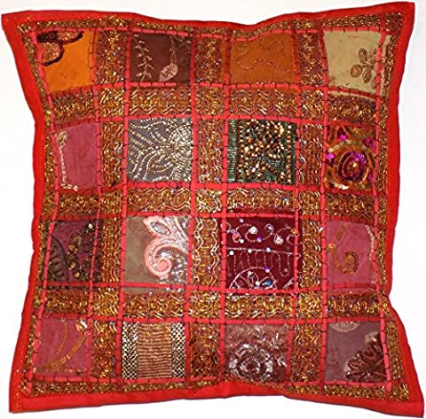Decorative Red Cushion Cover 16x16