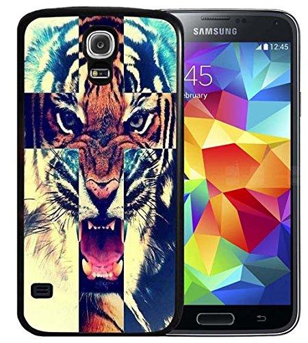 S4Fall Samsung Galaxy S4Schwarz Cover TPU Gummi Gel-Retro Rose Totenkopf, A00-33