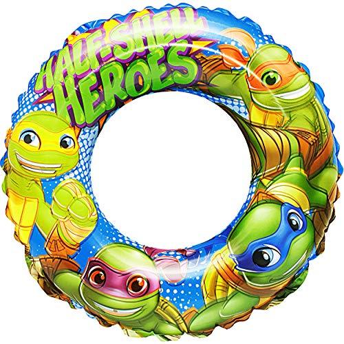 alles-meine.de GmbH Schwimmring aufblasbar -  Teenage Mutant Ninja Turtles  - 2 bis 6 Jahre - Schwimmreifen & Schwimmhilfe - für Jungen - Kinder Luft / Strandspielzeug - Badesp..