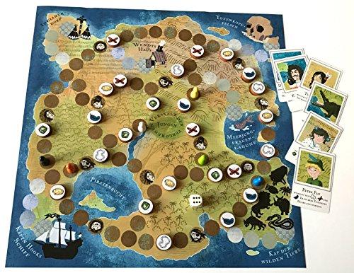 Spieltz 52559: Mit Peter Pan auf Nimmerland - das Peter Pan Spiel. Familien-Brettspiel für 2 - 6 Spieler ab 6 Jahren.