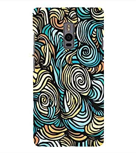 Fuson 3D Printed Pattern Designer Back Case Cover for OnePlus 2 - D990