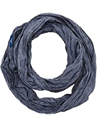 TOM TAILOR Herren Halstuch Geometrical Printed Loop, Blau (True Dark Blue 6811), One Size