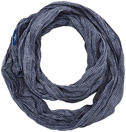 TOM TAILOR Herren Halstuch Geometrical Printed Loop Blau (True Dark Blue 6811), One Size