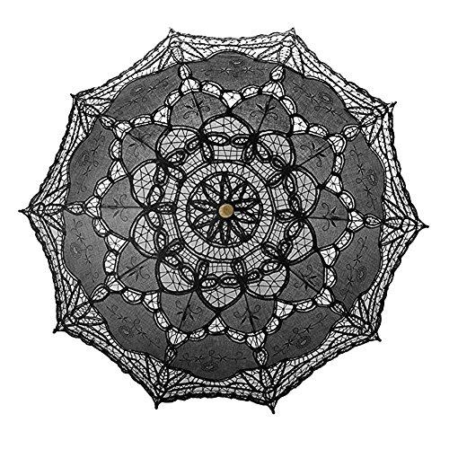 Per handgefertigt Spitze Regenschirm Sonnenschirm mit Holz Griff Dekorationen für Hochzeit...