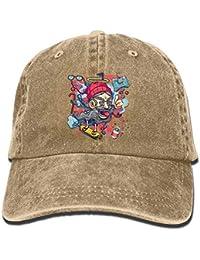 082377c002 Voxpkrs Sombrero O como Tocino Mujer Hombre Algodón Ajustable Lavado Gorra  de béisbol Sombrero Q8S3S886