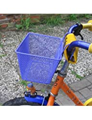 Land-Haus-Shop - Cesta para bicicleta infantil (metal), color azul