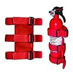 TEEPAO Roll Bar Fire Extinguisher Mount, Magic Strip Sticker Adjustable Car Fire Extinguisher Holder Belt For Jeep...