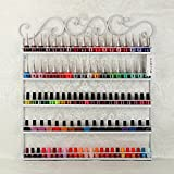 DIY Mounted 5 Shelf Nail Polish Wall Rack Organizer Holds 100 Bottles Nail Polish or Essential Oils(White)