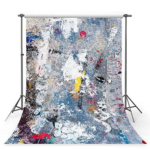 WaW 1.5x2.2m Grau Stuido Fotohintergrund Graffiti Wand Hintergründe Abstrakte Kunst Foto Kulisse Kinder Nahtlose Fotografie Hintergrund