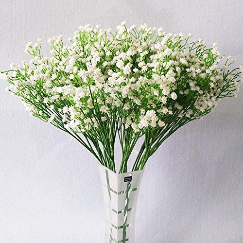 Moda 10 pcs blanco gypsophila Artificial Fake...