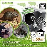 ISOTRONIC Mäuseabwehr Ultraschall Ratten- und Mäusevertreiber mobil Nagerabwehr Tiervertreiber Mäuseschreck batteriebetrieben für Garten Haus Keller und Dachboden Mäuse vertreiben ohne Chemie oder Mausfalle