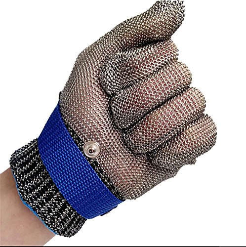 DAN chnittschutzhandschuhe Schnittfeste Handschuhe Schnittfeste Handschuhe Kettenhandschuhe aus 100% Edelstahl-Metal Mesh Metzgerhandschuh