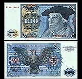 *** 2 Stück 100 Deutsche Mark Geldscheine 1980 Alte Währung - Reproduktion ***