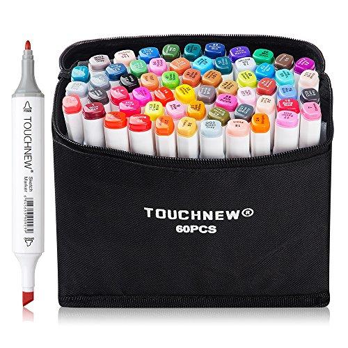 60 Farben Marker Stifte, verdoppelt spitzt Graffiti Pens, -