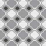 (7,49€/m) Weichschaummatte Antirutschmatte Badezimmermatte Sicherheit Badvorleger Badezimmer WC Meterware - Küche 65cm breite | Farbe : Orient grau weiß schwarz 4003-3