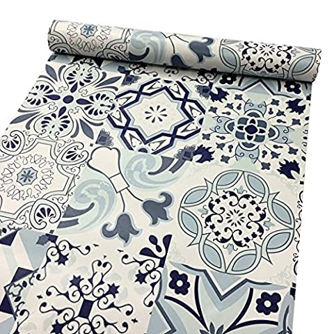 LoveFaye Classic Porcelain Pattern Contact Paper Waterproof Shelf Drawer Liner