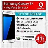 Samsung Galaxy S7 (weiss) mit 32 GB internem Speicher, Vodafone Smart L+ inkl. 7GB Highspeed Volumen mit max 500 Mbits, inkl. Telefonie- und SMS Flat, EU-Roaming, 24 Monate min. Laufzeit, mtl. € 41,99
