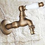 QINLEI europäische antike bad waschmaschine armaturen voller kupfer in die wand kühlung mopp pool 4 schnittstelle wasserhahn,b