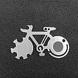 laonBonnie Fahrradform Mountainbike Werkzeugkarte Outdoor-Multifunktionsmesser Survival Card Tool Mit Skala Dosenöffner Schraubendreher Schneiden - Silber