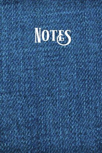 Blank Denim-denim (Notes: Lined Journal Blue Denim Casual Blank Notebook  for Men or Women)