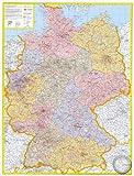 DUO: Pinnwand und Magnetwand im Alurahmen: Postleitzahlenkarte Deutschland I