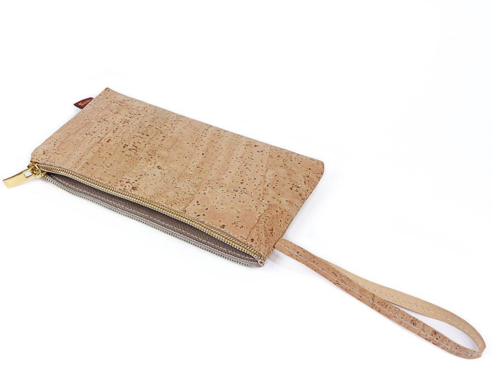 SIMARU Estuche Universal Ideal para Todo Tipo de usos: Bolso de Mano; Neceser; Estuche para Llevar lápices, Maquillaje, Cables o baterías externas; pequeña Carpeta Porta-Documentos (Beige)