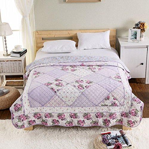 Lila Einzelbett (Alicemall Bettüberwurf Tagesdecke Baumwolle Doppelbett Steppdecke Angenehm Atmungsaktive Bettwäsche Sommerdecke Bettdecke Patchwork 150 x 200 cm (Romantisch Lila))