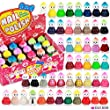 48 x Nail Polish Doll Shaped 48 Different Colours Baby Face Luxury Boxes Glass Bottles