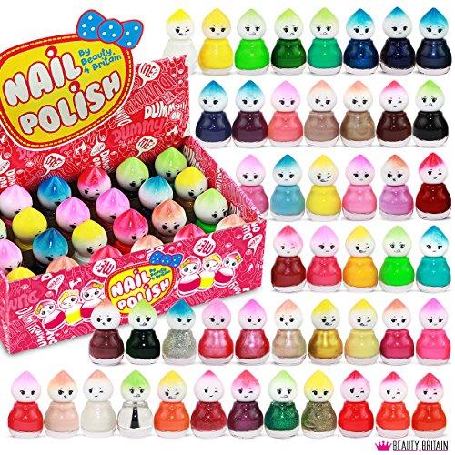 Set de 48 Esmalte de Uñas 48 Colores Diferentes Forma de Muñeca 5 ml