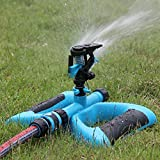 Lawn Sprinkler, Vzer Mobile Automatic 360 Degree Rotary Spray Head Garden Sprinklers Irrigation Watering for Garden Greenhouse