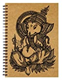 Labartry's Artist Sketch Book Wiro Bound A5 - 60 Pages (Lord Ganesha), Brown Cover