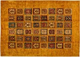 Lifetex.eu Teppich Ziegler Bachtiari Afghanistan ca. 240 x 170 cm · Orange · handgeknüpft · Schurwolle · Klassisch · hochwertiger Teppich · LT15028
