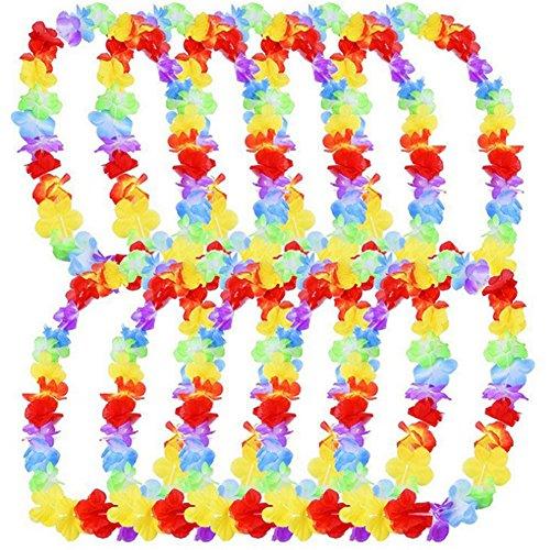 ropical Luau Hawaii Seidenblume für Party begünstigt Kränze Headbands Strandurlaub Dekoration 10 Stück ()