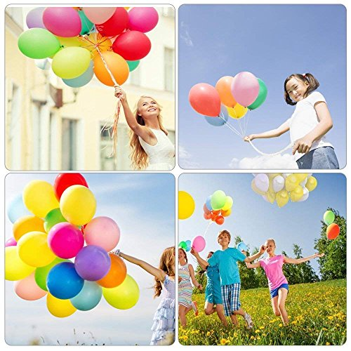 Yojoloin Inflatable Latex Balloons 12 Inch 150Pcs Party Balloon Assorted Colors For Birthday Wedding Celebration Etc Random Color 150PCS