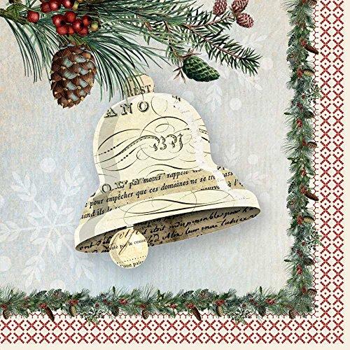 Paperproducts Design Design Papier Winter Lodge Bell Servietten, 16,5cm Multicolor -